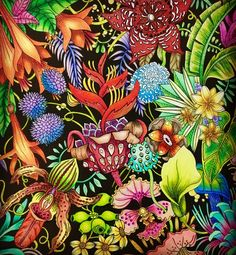 Exotischer Urwald #goodwivesandwarriors #exoticjungle #coloringbook #prismacolor