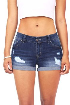 Body Enhancing Denim Shorts