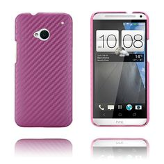 Carbon (Pink) HTC One Cover