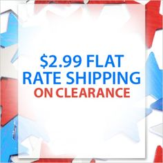 It's a star-spangled shoe blowout! Get $2.99 FLAT RATE SHIPPING on CLEARANCE. Use Code: PNPRE4TH
