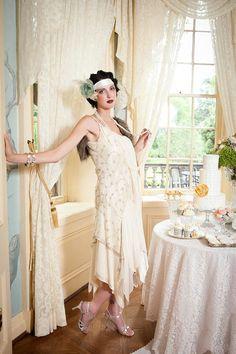 A High Tea Wedding Celebration, 1920s Downton Abbey Style...