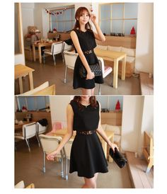 Flared Dress With Inner Laced Layer