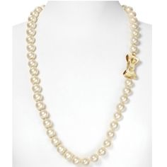 """Kate Spade """"All Wrapped Up"""" Long Pearl Necklace 32""""L NWOT. Glass/Gold brass. Imported.               Tongue closure behind bow. I have the earrings in a separate listing but can bundle them together with a discount. kate spade Jewelry Necklaces"""