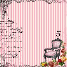 **FREE ViNTaGE DiGiTaL STaMPS**: Free Digital Scrapbook Paper - French Chair Stripe...