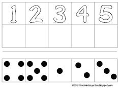 counting 1-5 great for beginning of school year Match Dots, Number Matching, Free Math, Math Numbers, Kindergarten Teachers, Beginning Of School, Teaching Materials, Math Activities, Counting