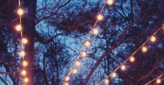 An Ideas About Patio & Lighting: Inspired by the backyard on the show Parenthood we created a canopy of string lights over our back patio.