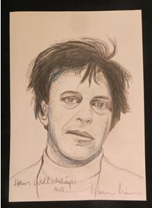 Hans Wollschläger (17 maart 1935 – 19 mei 2007) - Portret door Dietmar Moews, 2005