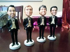 Transform your groomsmen into mini bobblehead dolls. They'll never look better!