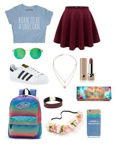 """""""Just another school day"""" by brendasofia13 on Polyvore featuring moda, adidas, Vans, Wildfox, Kate Spade, Michael Kors, Marc Jacobs y Hoola"""