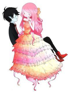 Marshall Lee and Princess Bubblegum