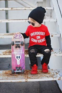 OVERDOSED ON CONFIDENCE   STRUNG OUT ON COMPLIMENTS, kids tee, trendy kids clothes, kids ootd, drizzy quotes