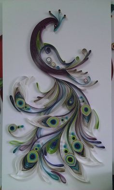#LGLimitlessDesign #Contest Need to have this on my wall! Beautiful quilled peacock