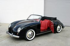1953 Dannenhauer & Stauss. It is based on a Volkswagen Beetle. Only very few (around 16) of ~100 Cabriolets have survived until today.