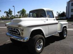 Chevrolet Apache, 1957 Chevrolet, Chevrolet Trucks, Chevy, How To Clean Chrome, Classic Pickup Trucks, Four Wheel Drive, Get Directions