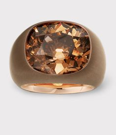 HEMMERLE JEWELRY - Ring set in diamond, pink gold and copper.