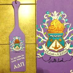 Paddle I painted for my Little Diamond Sister! #adpi #alphadeltapi #crest #sisterhood #WLFEO