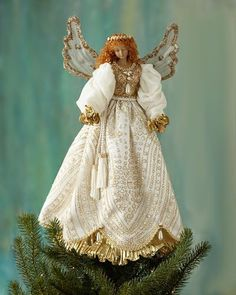 H8H1T Katherine's Collection Angel Christmas Tree Topper
