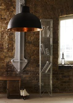 Davey Lighting large Spun Reflector in weathered copper with polished copper interior Davey Lighting, Copper Interior, Mood Light, Diffused Light, Industrial House, How To Make Light, Colorful Interiors, Lighting Design, Sconces