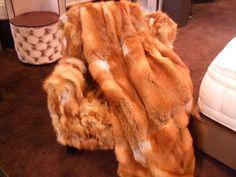 Narzuta z naturalnego futra. Real fur bedspread.