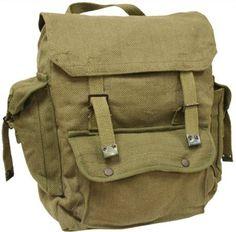 Mens Man Combat Military Rucksack Travel Back Pack Canvas Surplus Shoulder Bag by Zip Zap Zooom in External Frame Backpacks. Army Rucksack, Rucksack Backpack, Edc, Retro Backpack, Vintage Canvas, Vintage Bag, Cotton Bag, Cotton Canvas, Green Bag