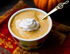 Pumpkin pudding, 5 ingredients in 5 minutes  link: http://kblog.lunchboxbunch.com/2011/10/pumpkin-pudding-5-ingredients-5-minutes.html
