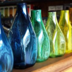 Hand Blown Glass bottles