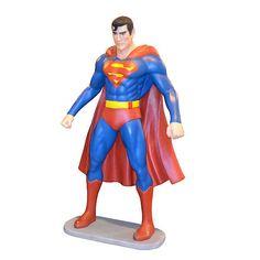 Amazing Fiberglass Comics Man Of Steel Superman Statue, Life-Size,6'FT Tall!