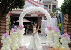 Kết quả hình ảnh cho cổng cưới bóng bay
