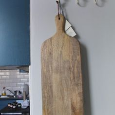 This gorgeously large cutting board is handmade from sustainable mango wood. The natural grain of the wood and smooth finish makes it incredibly tactile and heavenly to use. It's a fantastic size with plenty of chopping space and will make a great gift for anyone who enjoys cooking and preparing food. It can also be used as an elegant way to serve breads or antipasti. £34.95