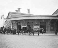 """Old Point Depot. The building was constructed in 1878 as a train depot to serve the nearby busy port. Among railwaymen it was always known as """"The Point Store"""". Ireland Pictures, Images Of Ireland, Old Pictures, Old Photos, Vintage Pictures, Dublin Street, Dublin City, Irish Independence, Great North"""