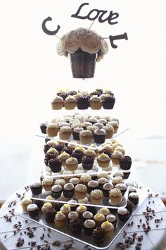 A little different take on the cupcake tower.