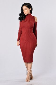 Second Date Dress - Burgundy