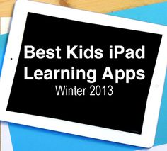 Best Kids Kids iPad Learning Apps Winter 2013