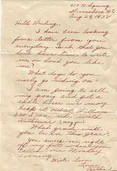 A World War Ii Love Letter  Notice The Pet Names Doll