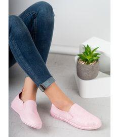 Ružové slipony Heeled Mules, Slip On, Heels, Sneakers, Fashion, Trainers, Moda, Shoes Heels, Women's Sneakers