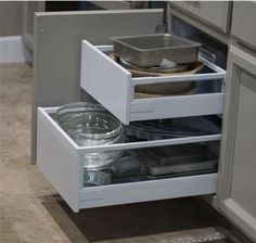 A tutorial for installing IKEA drawers in face frame kitchen cabinets. Goal: Increase useful storage space in typical kitchen face frame base cabinets by installing drawer pull-outs. Summary: Typical