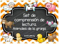 Set de comprensin de lectura.Animales de la granjaSAVE 25% by buying the bundle!!!This set includes all 9 of my Farm Animals packs in Spanish!!Las ovejasLas vacasLos caballosLos cerdosLos chivosLos conejosLos patosLos pollitosLos ratones