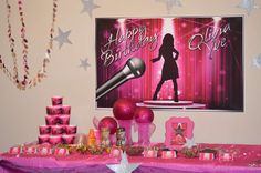 Pop Star Birthday Birthday Party Ideas | Photo 3 of 33 | Catch My Party