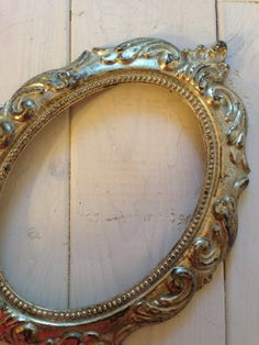 Antique Filigree Oval 4x6 Picture Frame by adolescentlion on Etsy, $14.00