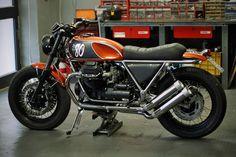 Probably my favourite custom Guzzi - repinned by http://www.motorcyclehouse.com/