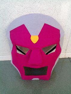 Vision felt mask, by Dinofancy craft