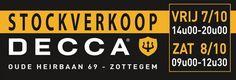 Stockverkoop Decca Zottegem -- Zottegem -- 07/10-08/10