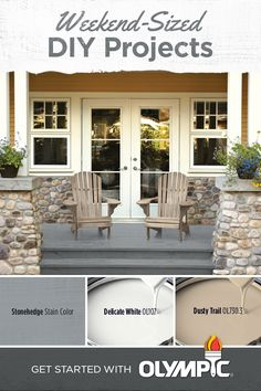 Weekend DIY Projects That Add Value to Your Home | You go to great lengths to personalize the inside of your home. Why should the outside of it be any different? During your next free weekend, give your exterior a look that adds both beauty and value. With countless paint and stain combinations to choose from, Olympic® Paints and Stains can help turn the deck, porch, or patio into your favorite part of the house.