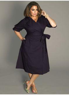 Boulangerie Wrap Dress in Richelieu Blue