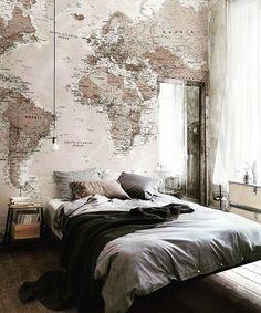 Wallpaper Map via interiormilk on Instagram