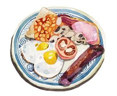 Breakfast @ Elma's ❤️  #morning #breakfast #english #bacon #sausages #muchmore #healthy #startyourdaywell @elmasbakery