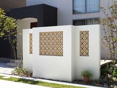 POROUS BLOCK 200 IN-SITU - Designer Wall partition systems from Kenzan ✓ all information ✓ high-resolution images ✓ CADs ✓ catalogues ✓ contact. 3 Storey House Design, Breeze Block Wall, Exterior Wall Design, Modern Fence Design, Compound Wall, Brick Art, Palm Springs Style, Boundary Walls, Brick Fence