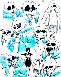 "thaidraws: ""a lot of ppl said..they liked the way i drew sans SO…I D..REW MORE """