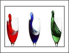 Wine Glass Photography | Wine Glass Splash by Linda Reichenbecher - Digital Art Things