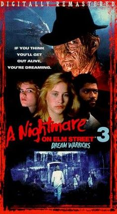 A Nightmare on Elm Street 3: Dream Warriors (1987)  Dir: Chuck Russell  Cast: Robert Englund, Heather Langenkamp, Craig Wasson, Patricia Arquette, Ken Sagoes, Rodney Eastman, Jennifer Rubin, Laurence Fishburne